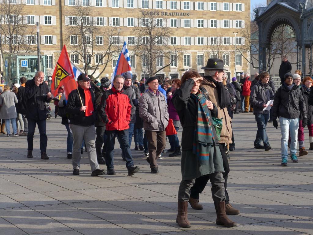 """Bündnis """"Halt. zusammen. Baden-Württemberg gegen Rassismus und Gewalt"""" 16.1.2016 Stuttgart Schlossplatz"""