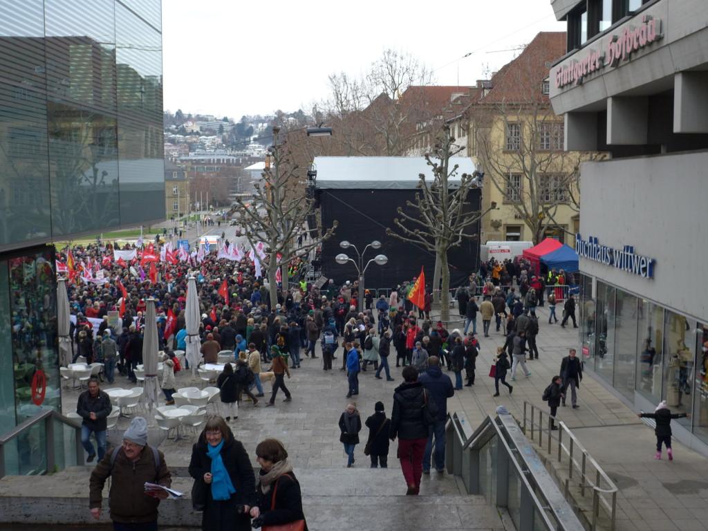 """Bündnis """"Halt. zusammen. Baden-Württemberg gegen Rassismus und Gewalt"""" 16.1.2016"""