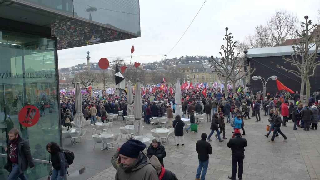 """Kundgebung Bündnis """"Halt. zusammen. Baden-Württemberg gegen Rassismus und Gewalt"""""""