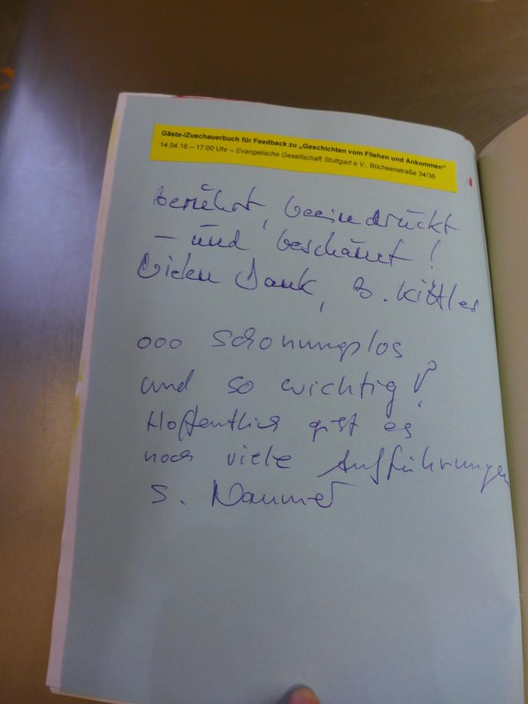 Gästebuch Geschichten vom Fliehen und Ankommen