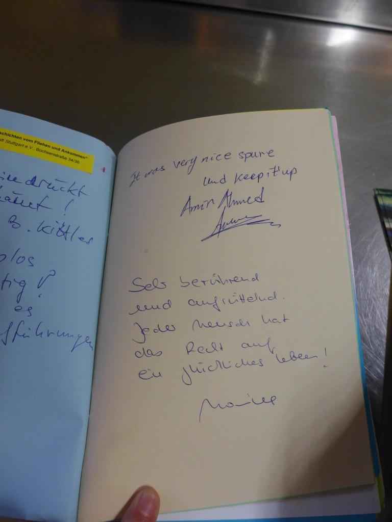 Gästebuch Geschichten vom Fliehen und Ankommen am 14.4.2016